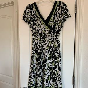 Patterned Work Dress